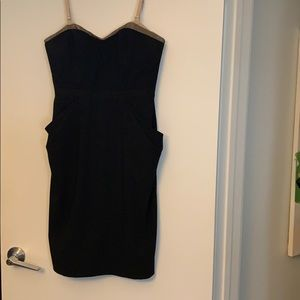 Strapless knee length bustier BCBGMaxAzaria dress.